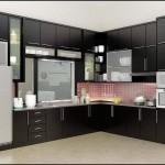 Interior Dapur dan Ruang Makan yang Minimalistis Sebagai Ciri Rumah Modern