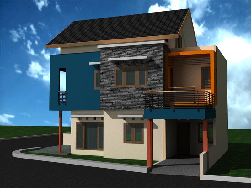 Contoh-Desain-Rumah-Minimalis-Tingkat-Yang-Dinamis