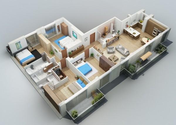 denah-rumah-1-lantai-4-kamar-tidur