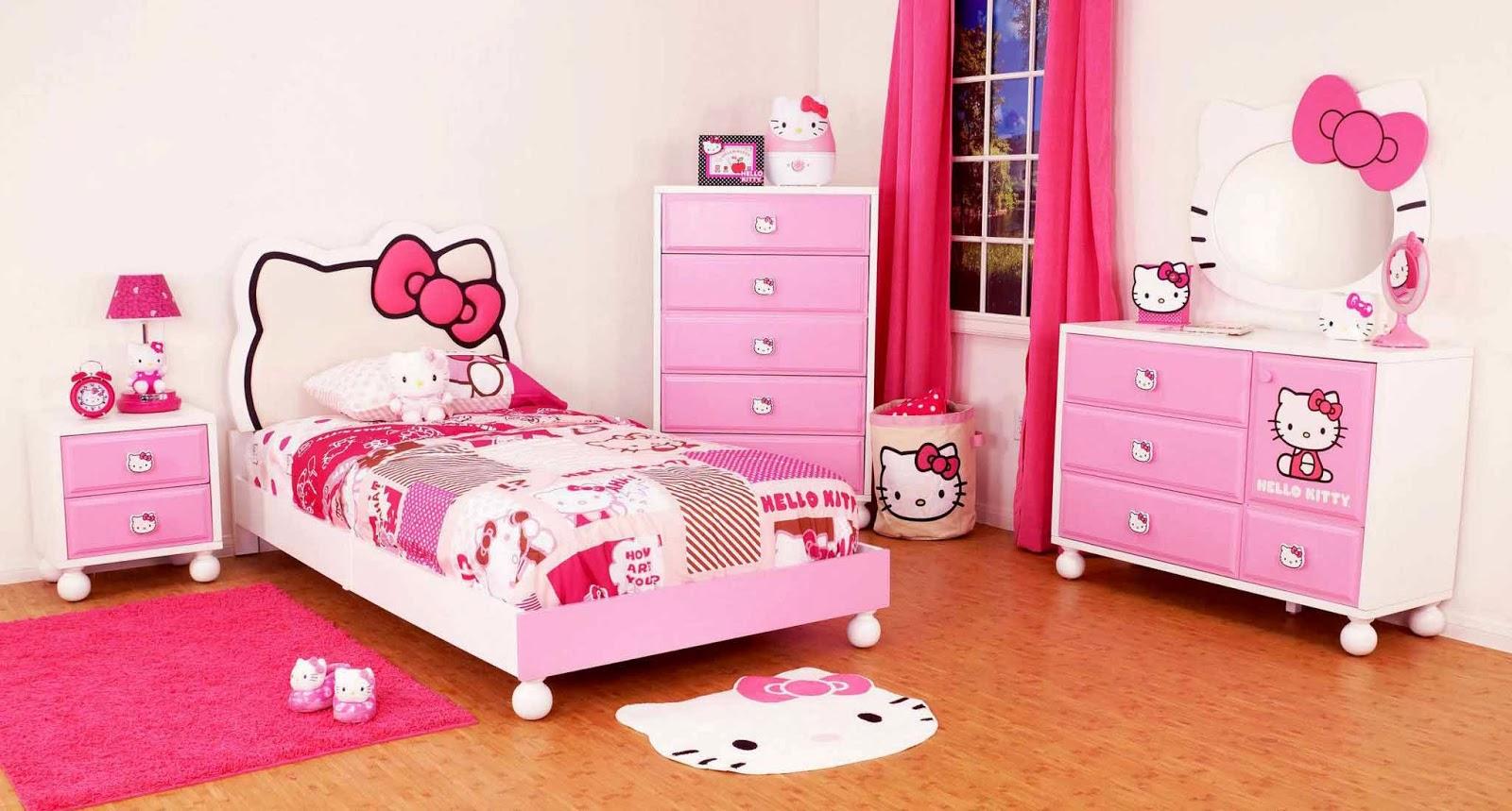 kamar-tidur-anak-perempuan-hello-kitty-terbaru