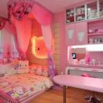 Tempat Tidur Anak Perempuan Hello Kitty Sebagai Pelengkap Interior